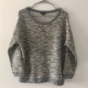 American Eagle Grey Metallic Marled Sweater L